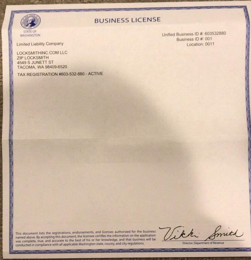 Tacoma Licence
